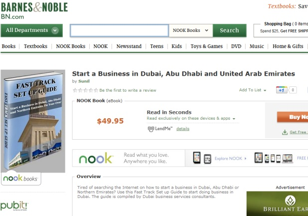 Start a Business in Dubai on Barnes & Noble Nook